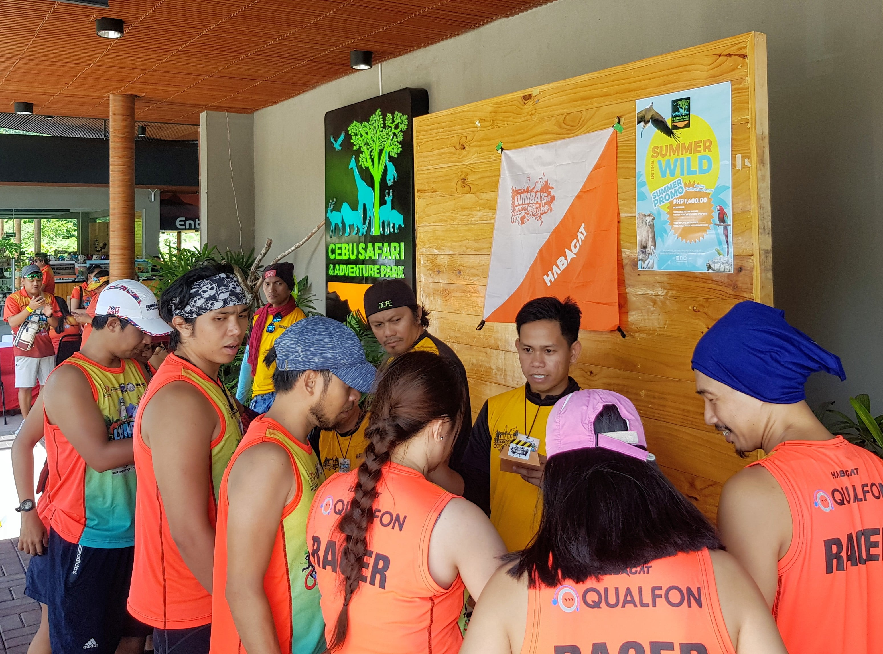 Lumbag Laag sa Sugbo with their orange and yellow jersey visits Cebu Safari & Adventure Park